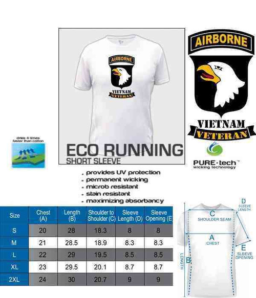 101st airborne vietnam veteran eco running shirt
