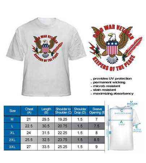 cold war veteran keepers peace white performance tshirt