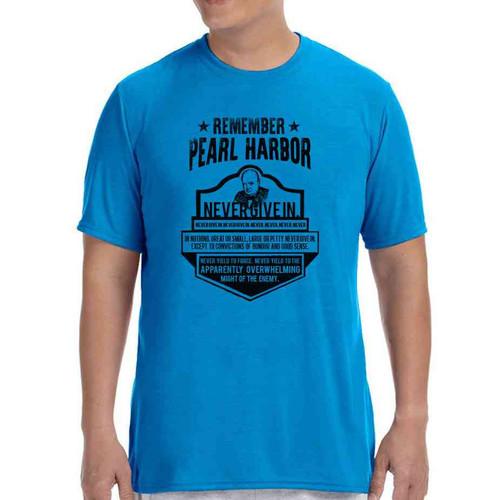 75th anniversary pearl harbor churchill blue tshirt