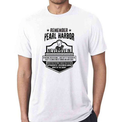 75th anniversary pearl harbor churchill white tshirt