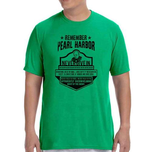 75th anniversary pearl harbor churchill green tshirt