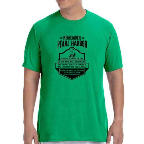 75th anniversary pearl harbor roosevelt green tshirt