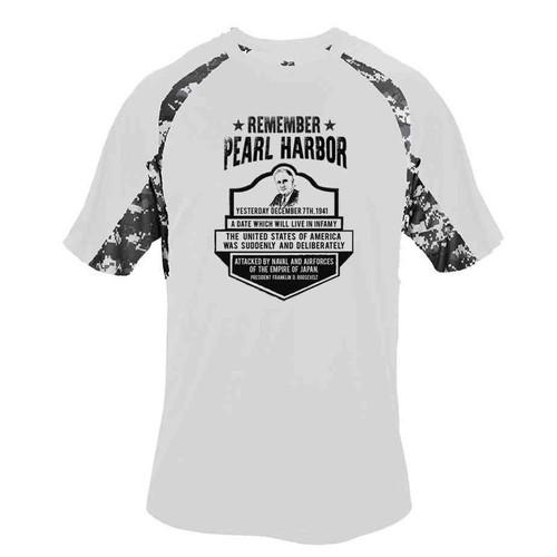 75th anniversary pearl harbor roosevelt performance digital camo tshirt