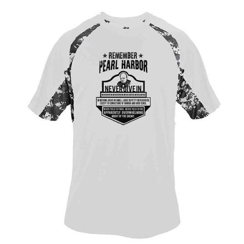75th anniversary pearl harbor churchill performance digital camo tshirt
