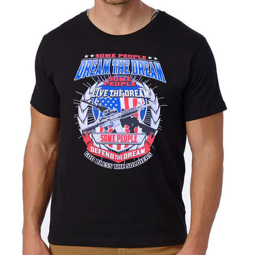 god bless soldiers tribute tshirt
