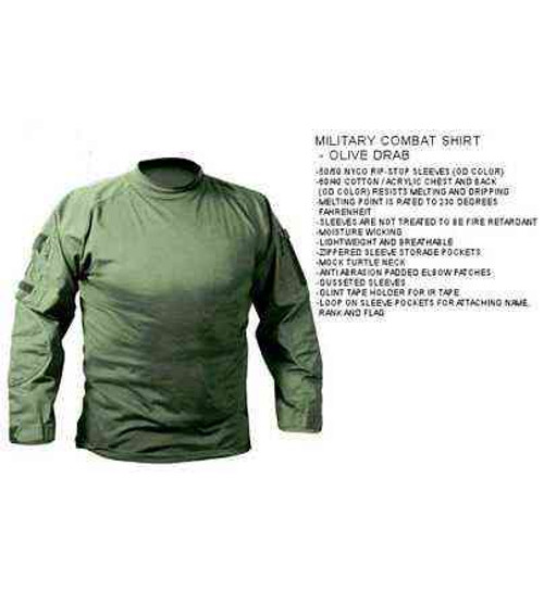 military combat shirt olive drab