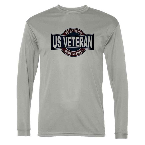 us veteran give an old man some respect grey long sleeve shirt