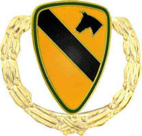 army 1st cav div hat lapel pin