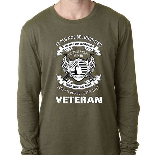 veteran i earned title special edition long sleeve o d shirt