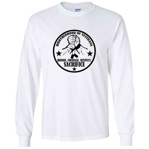 brotherhood veterans white performance long sleeve shirt