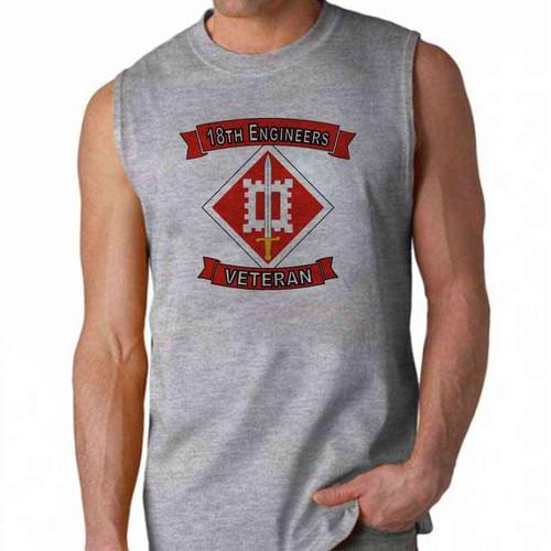 army 18th engineers veteran sleeveless shirt