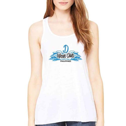 d wave club subic bay ladies white tank top