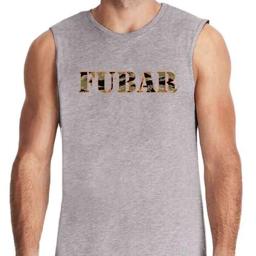 fubar grey sleeveless shirt