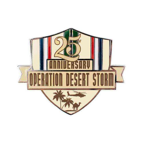 desert storm 25th anniversay lapel pin