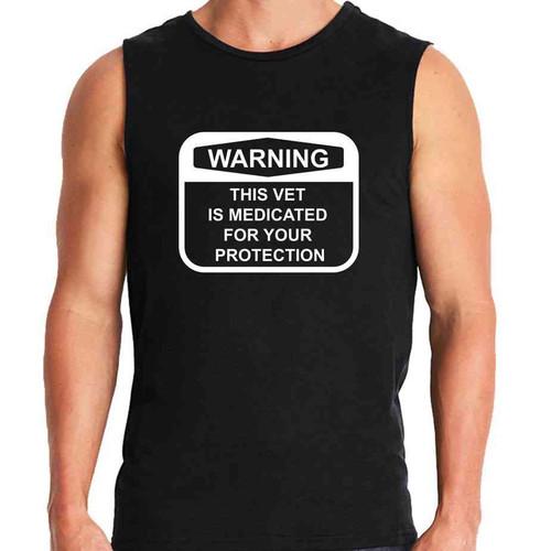medicated vet sleeveless shirt