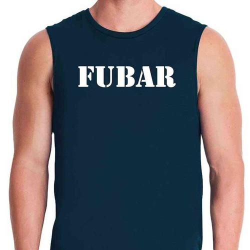 fubar limited issue navy blue sleeveless shirt