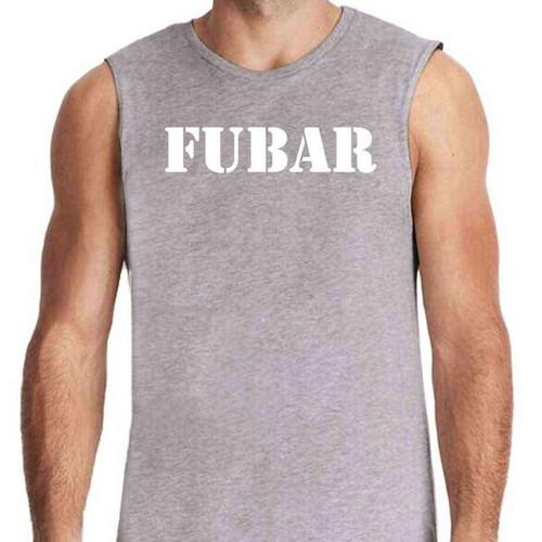 fubar limited issue grey sleeveless shirt