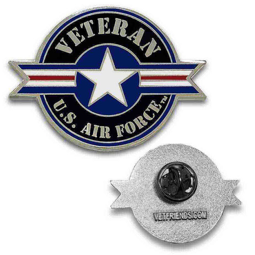 officially licensed usaf veteran custom lapel pin roundel
