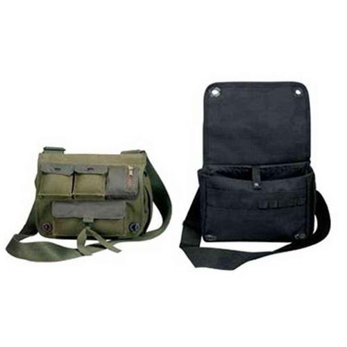 military shoulder bag black or olive
