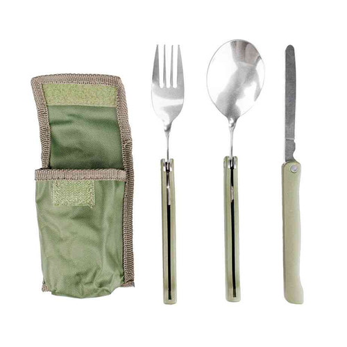 olive drab 3 piece folding chow kit