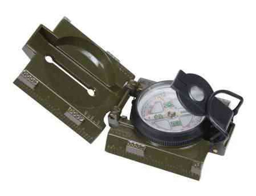 olive drab military marching compass w led light
