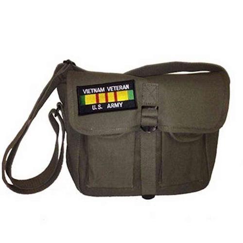 u s army vietnam vet ammo shoulder bag w patch