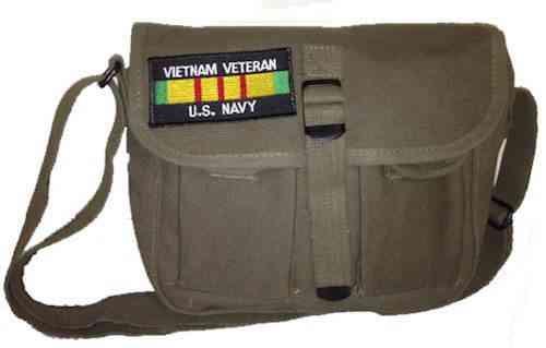 u s navy vietnam vet ammo shoulder bag w patch