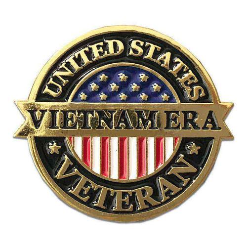 us veteran lapel pin vietnam era and flag