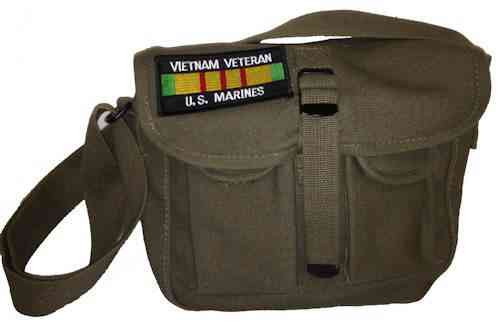 u s marines vietnam vet ammo shoulder bag w patch