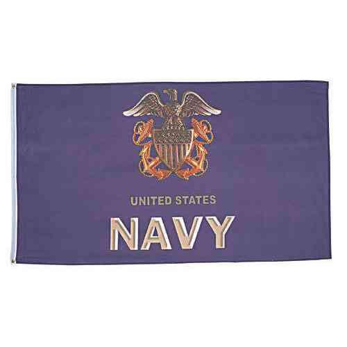 navy emblem anchors flag huge 3 ft x 5 ft