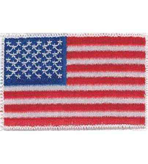 american flag hook and loop patch white border