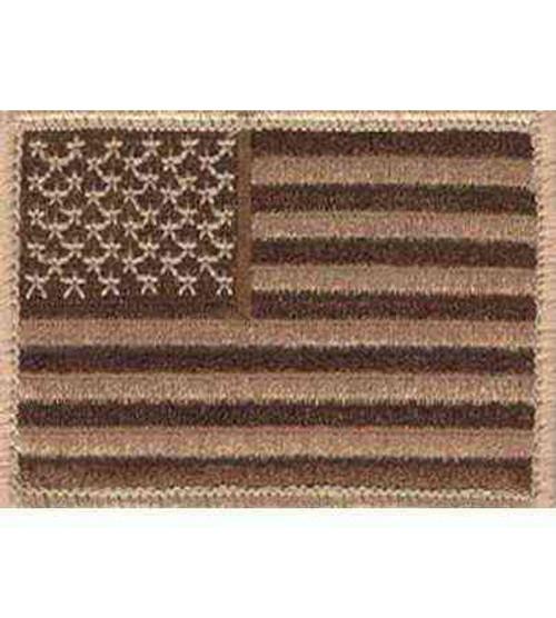 american flag desert hook and loop patch