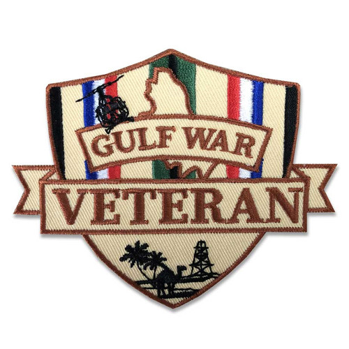 gulf war veteran patch shield and ribbon operation desert storm