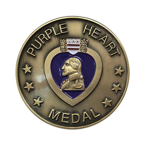 Purple Heart Challenge Coin