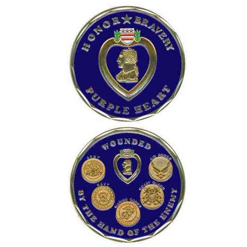 purple heart deluxe challenge coin