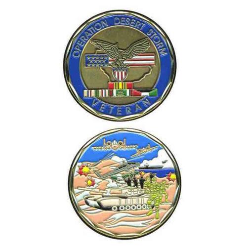 operation desert storm veteran deluxe challenge coin