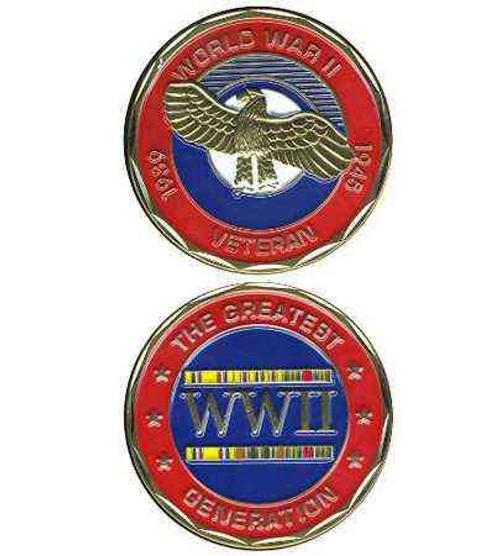 wwii veteran deluxe challenge coin