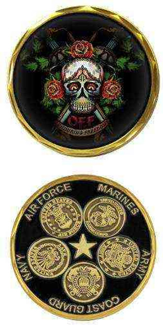 operation enduring freedom 5 branches challenge coin