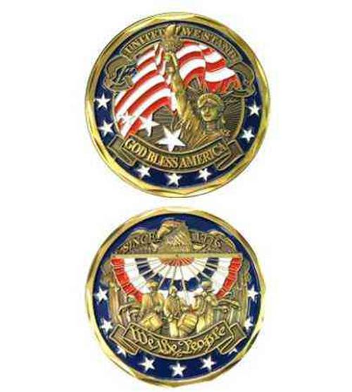 usa patriotic we people challenge coin