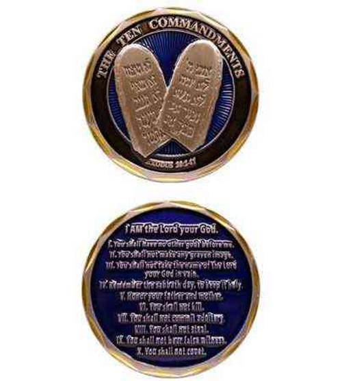 ten commandments challenge coin