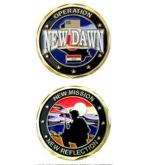 ond new mission reflect silhouette challenge coin