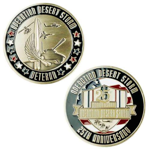 desert storm challenge coin 25th anniversary