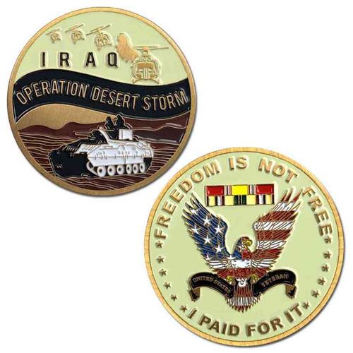 operation desert storm challenge coin