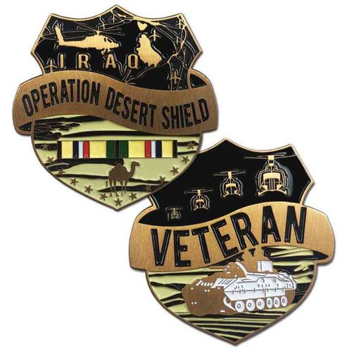 operation desert shield veteran challenge coin