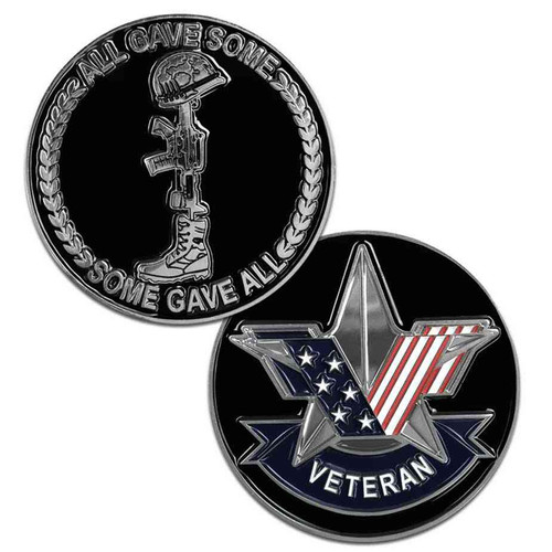 us veteran special edition stars and stripes challenge coin