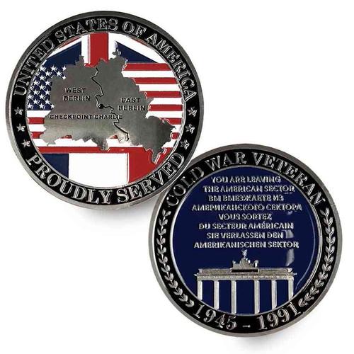 cold war veteran challenge coin checkpoint charlie