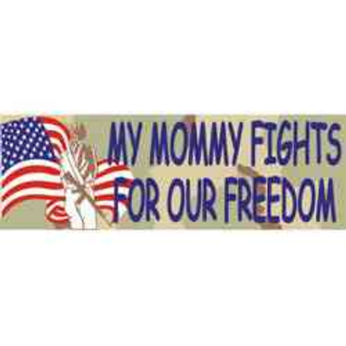 youth my mommy fights for our freedom bumper sticker