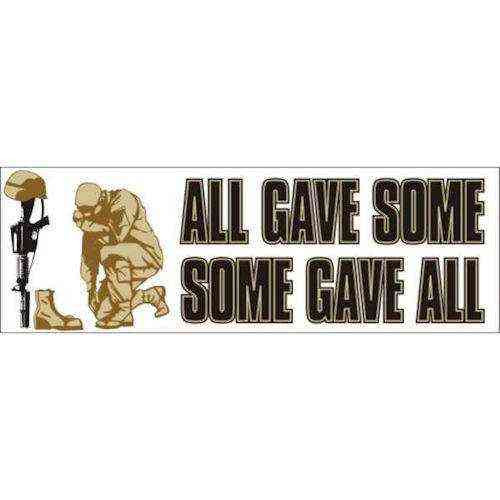 all gave some some gave all bumper sticker