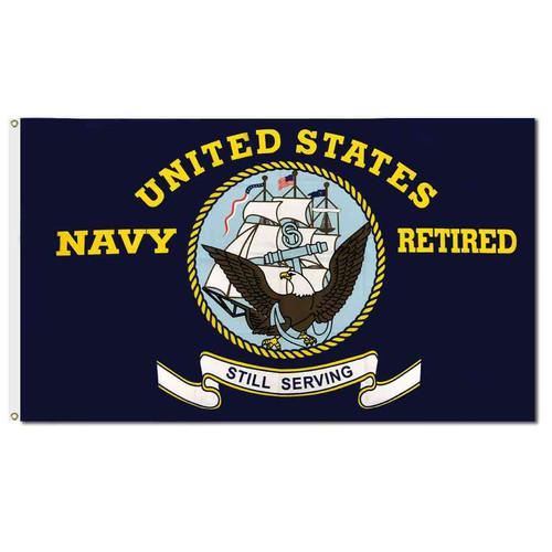 u s navy retired flag
