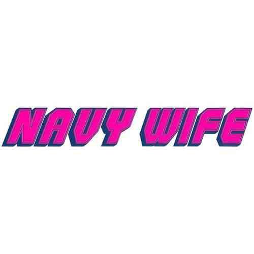 navy wife vinyl transfer